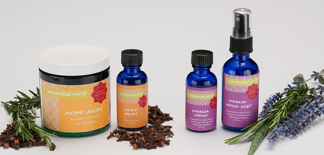 Aromatherapy Products Ache Away and Derma Mend Fayetteville AR